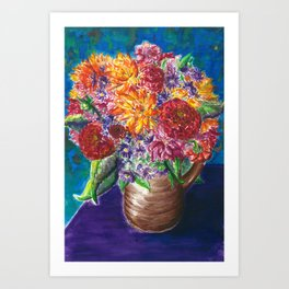 Eryn's Dahlias Art Print