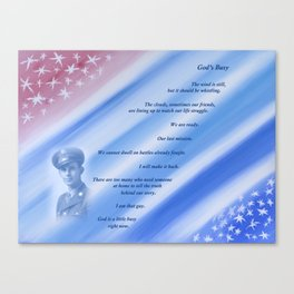 Nearly Patriotic, #19 With Poem Canvas Print