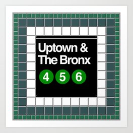 subway bronx sign Art Print