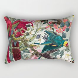 FLORAL AND BIRDS XXII Rectangular Pillow