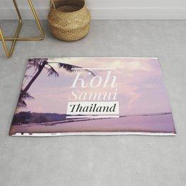 Sunset Koh Samui Thailand on a beach Rug