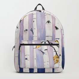 Birch Trees Watercolor Backpack