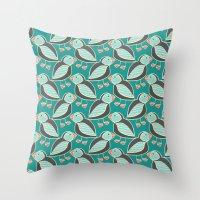 puffin Throw Pillows featuring puffin by blacksparrow