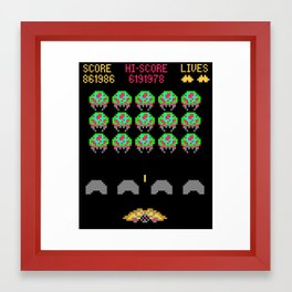 Zebes Invaders Framed Art Print