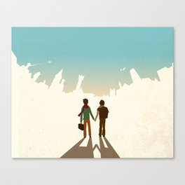 Foreign Towers Canvas Print