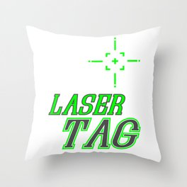 Funny Laser Tag Party T-Shirt Mode On Laser tag Throw Pillow