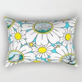 Road to Fernie Flowers Rectangular Pillow