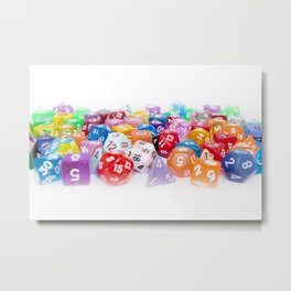 Treasure Trove of Gaming Dice Metal Print