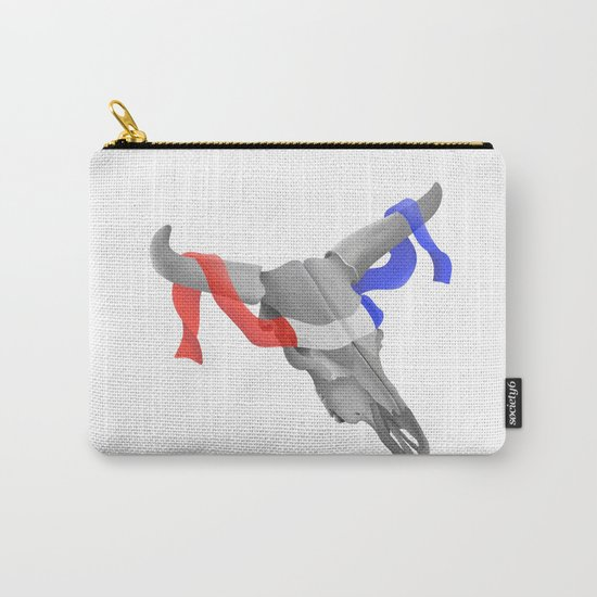 Patriotic Cow Skull Carry-All Pouch
