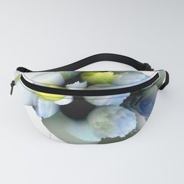 pastel spring floral composition abstract 3d digital painting Fanny Pack