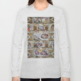 "Michelangelo ""Sistine Chapel ceiling"", Long Sleeve T-shirt"