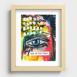 Eye of the Tiger Recessed Framed Print