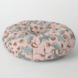 Acorn and oak leaves Floor Pillow