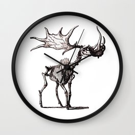 Irish Elk Skeleton Wall Clock