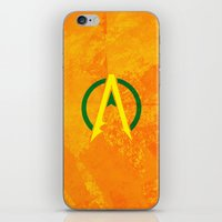 aquaman iPhone & iPod Skins featuring Aquaman by Some_Designs