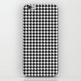 Monochrome Black & White Houndstooth iPhone Skin