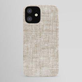 White Washed Burlap Print iPhone Case