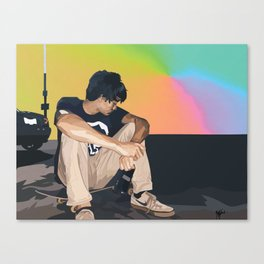 skatethruthenight ver 1 Canvas Print