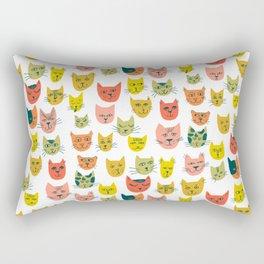 Meow! Colorful Cats Illustration Rectangular Pillow