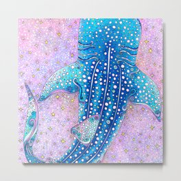 Whale Shark Galaxy Metal Print