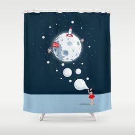 Reach For The Moon Shower Curtain