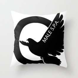 MALE SPA - BLACK DOVE LOGO Throw Pillow