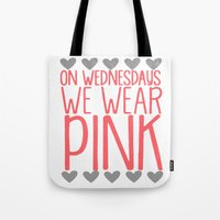 mean girls Tote Bags featuring Mean Girls by GeekCircus