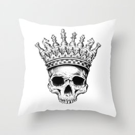 Heavy lies the crown Throw Pillow
