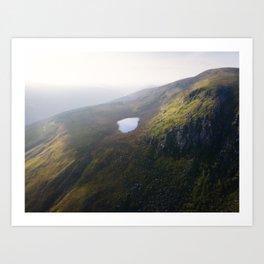Art Lough in Wicklow Mountains, Ireland (RR366) Art Print