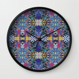 Garden Party - Blue Wall Clock