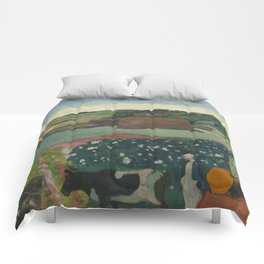 Paul Gauguin - Haystacks in Brittany Comforters
