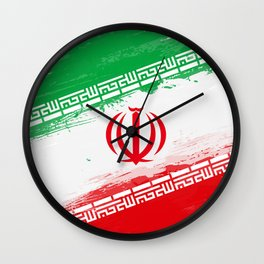 Iran's Flag Design Wall Clock