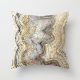 Jagged Agate Throw Pillow