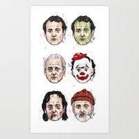 murray Art Prints featuring Murray by Matthew Brazier Illustration