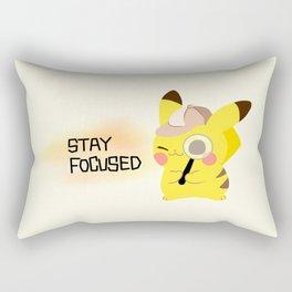 pikapika chu - stay focused Rectangular Pillow