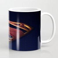 man of steel Mugs featuring Man of Steel by Fortale