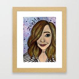 Nail Polish Painting of Zoella Framed Art Print