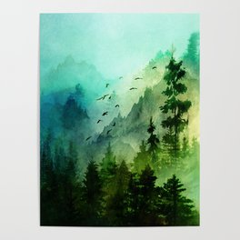 Mountain Morning Poster