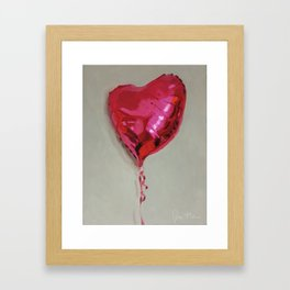 Magenta Balloon Framed Art Print