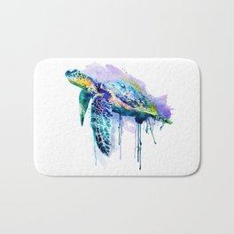 Watercolor Sea Turtle Bath Mat