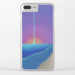 Let me arrive on time Clear iPhone Case