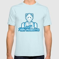 Domo Arigato Mr. Cyberman Mens Fitted Tee Light Blue SMALL