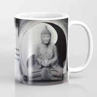 ying yang Mugs featuring YING YANG  by Ivine Design ArtWork Of Lynda Zaleski