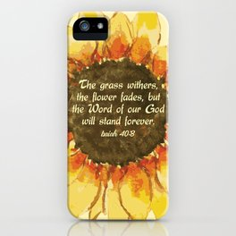 The Word of our God will stand forever iPhone Case