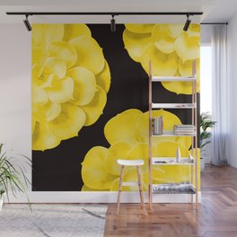 Large Yellow Succulent On Black Background #decor #society6 #buyart Wall Mural