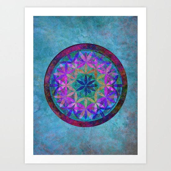 Flower of Life 3 Art Print