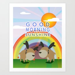 Good Morning Reindeer  Art Print