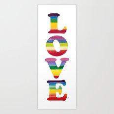LOVE - IN COLOUR Art Print