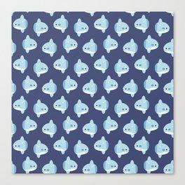 Cute Baby Mola Mola Ocean Sunfish Canvas Print