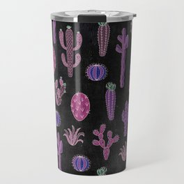 Cactus Pattern On Chalkboard Travel Mug